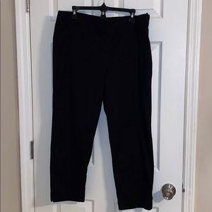 Talbots Heritage Black Ankle Pants Size 14